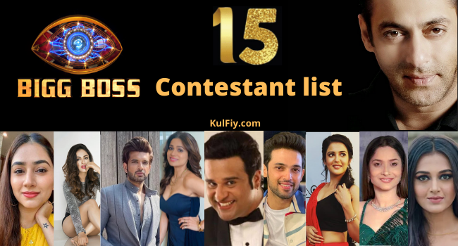 Bigg Boss 15 Contestant list