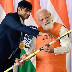Neeraj Chopra with Modi