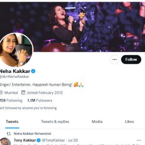 Neha Kakkar Twitter