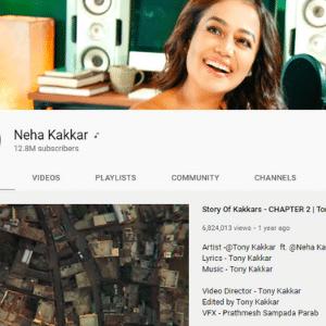 Neha Kakkar Youtube