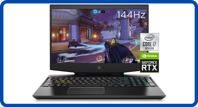 OMEN 15 Gaming Laptop, Intel Core i7-10750H
