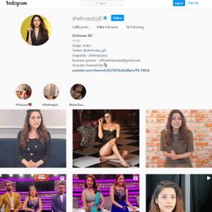 Shahnaaz Gill Instagram