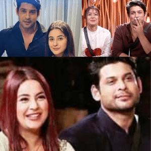 Sidharth Shukla with Shehnaaz Gill