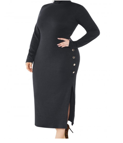 Split Sweater Dress