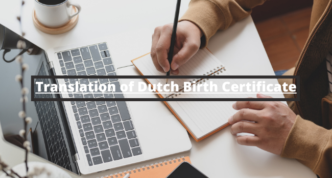 Translation of Dutch Birth Certificate