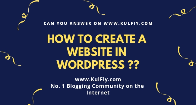 How to create a website in Wordpress